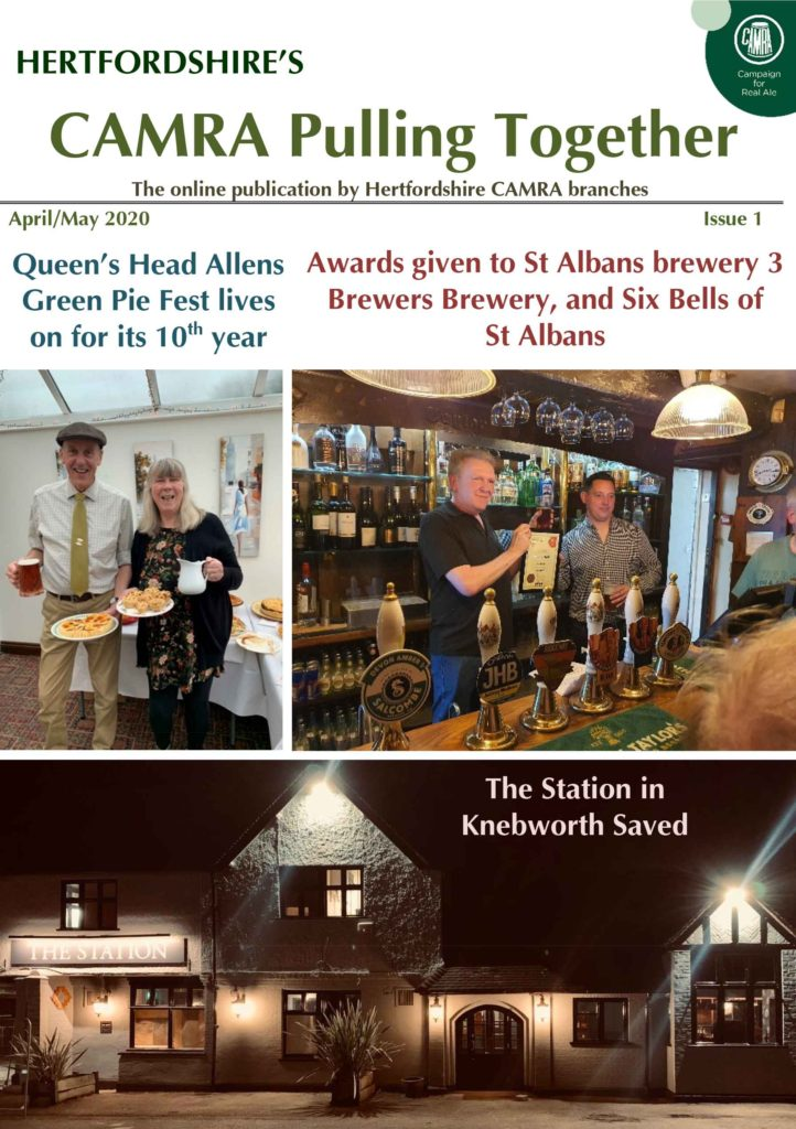 CAMRA Pulling Together Issue 1 Cover